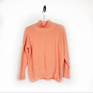 Angels Of The North Salmon Cowlneck Knit Sweater